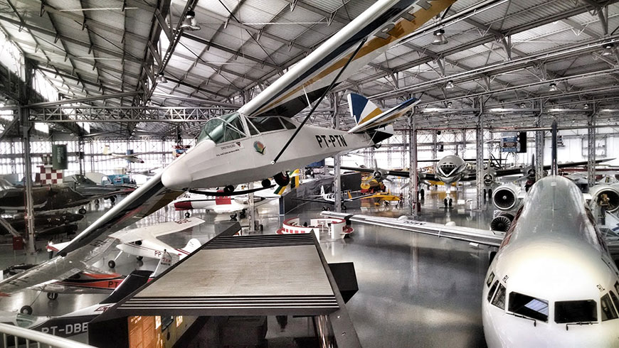 Museu TAM - Vista do Acervo de Aeronaves