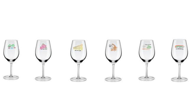 Design de taças de vinho - Festival Gastronômico